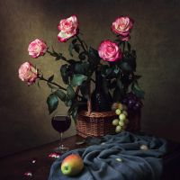 Still life with a bouquet of roses by Daykiney