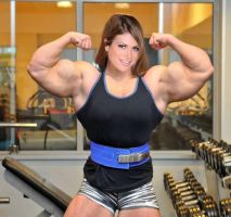 Jenny Guns muscle morphed by Turbo99