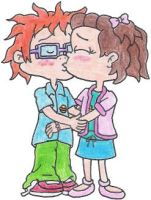 Chuckie and Lil Kissing by nintendomaximus