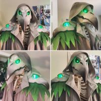 Plague Doctor Reaper WIP, from Overwatch by bearwithchainsaw