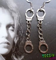 HANDCUFF EARRINGS by TocsinDesigns