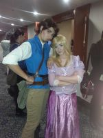 Flynn and Rapunzel by gaara-luvr-forever