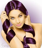 Purple hair - Bipasha Basu by mstrueblue
