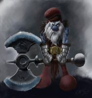 Papa Smurf the Barbarian by MacGwyver