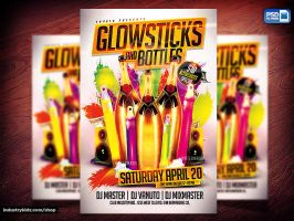 Glowsticks and Bottles PSD Flyer by Industrykidz