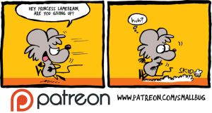Patreon update: THE FUZZY PRINCESS #3, pages 20 an by bakertoons