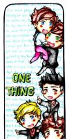 1D: One Thing Bookmark by bakahouken