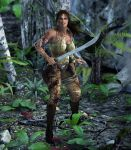 LaraCroft x3 by Rendermojo