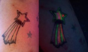 Rainbow Shooting Star Tattoo by OzTheJackal