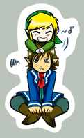 Link and Linebeck by MitsukoUchiha