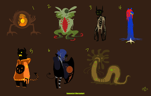 Mixed Creature Adopts 10 [Point Option Added!] by Adopt-Monstar