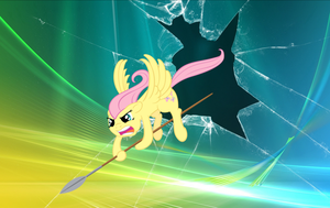 Fluttershy The Impaler wallpaper 2 by nestordc
