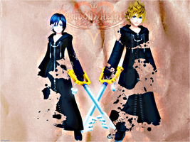 KH 358 2 Days Wallpaper Roxas by GimperX