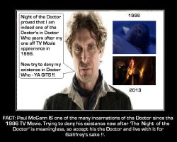 Doctor Who - Paul's Doctor SERIOUSLY DOES count !! by DoctorWhoOne