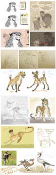 Ow Shapeshifters Au - Sketches by VanyCat