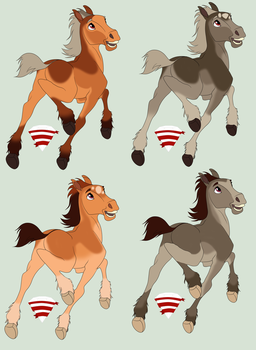 Foals for oOShadowDragonsSoul (2 of 2) by Foxy989-Adopts
