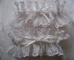 White Lace Garters by AngelVashir