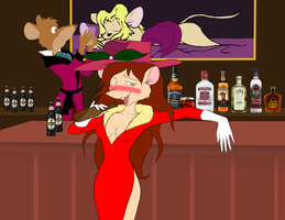 Boozed up Beverly Mouse by NezumiYuki