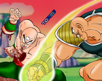 Tenshinhan VS Nappa by Toree182