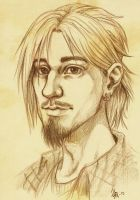 Saunders portrait - pencil drawing by oomizuao
