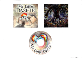 My Little Dashie - CD cover design by Drawirm