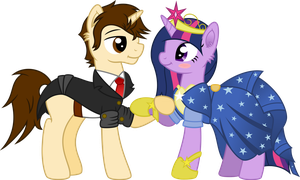 [COM] Twilight and Peter at the Gala by MacTavish1996