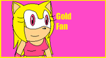 :PC: Gold fan stamp by FireBladeFlame