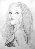 Avril Lavigne - MQ Drawing by askine