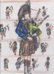 Eleven Pipers Piping by Mi-anju