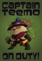 Captain Teemo On Duty by djinnborn