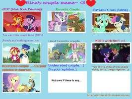 Rino's Couples MEME (ArtKing3000 edition) by ArtKing3000