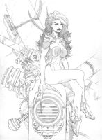 Techgirl in the Shell pencils by 6nailbomb9