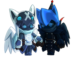 Alina and Jackers Chibis by FriedSnipe