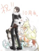 squall and animals by tokinokoe