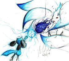 Isamu(Riolu) vs Kirai(Shiny ninetails) request by RainAtronach