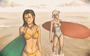 surfer girls like long boards by tornprince90