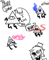 Bill Cipher doodles by Howling-Wolf123