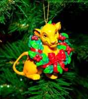 Christmas Ornament Simba Lion King by ZiraLovesScar