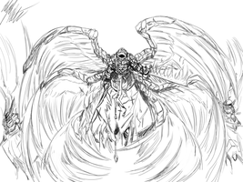 Lineart: Blood Seraph by PeterPrime