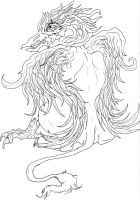 Gryphon-Lineart by Caylyngasm