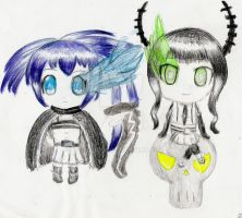Black Rock Shooter: Innocent Soul Chibis by spyu98
