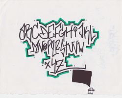 Graffiti Alphabet by atomicmufin