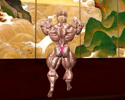 Melodie muscle display before competition! 6 by Muscle-girl-Sakura