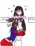 Gaige licking sailor mars belly button (colored) by Poopymcmuffin587