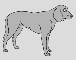 Dog Template - Hound by NaruFreak123-Bases