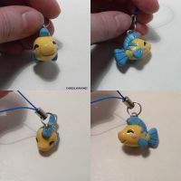 Flounder Charm by ChibiSilverWings