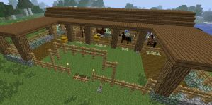 Minecraft Stables by SapphireGirlMC