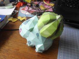 Papercraft - Bulbasaur 02 by ckry