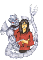 Lee and her Manbot by Zhon