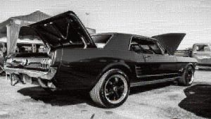 Mustang Photo Mosaic by whendt